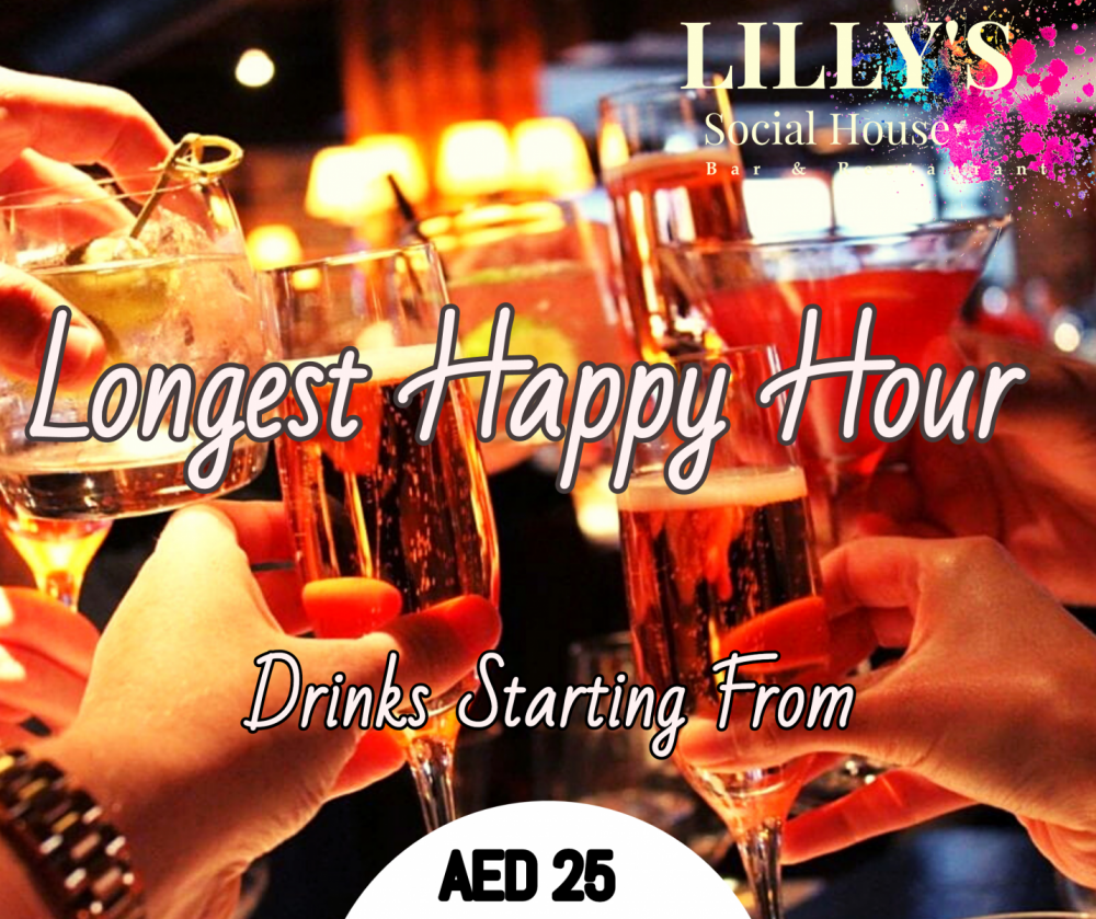 Enjoy our longest Happy Hour at Canal Central Business Bay