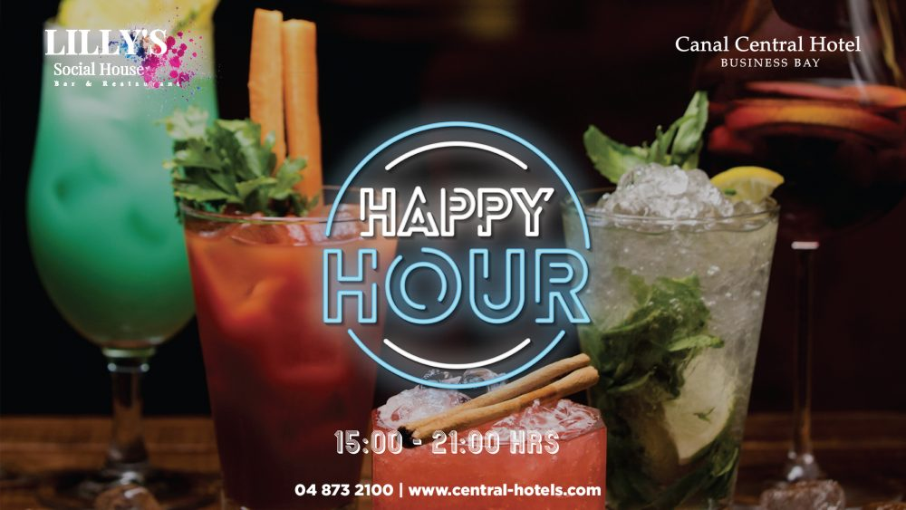 Enjoy our Happy Hour at Canal Central Business Bay