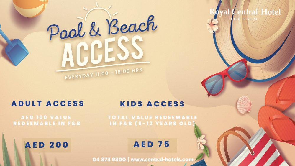 Beach Access Royal Central The Palm