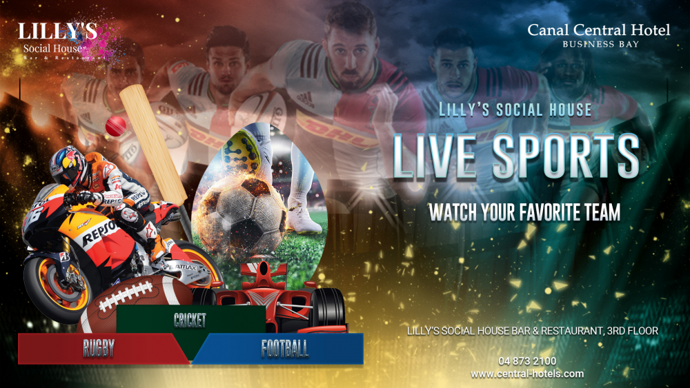 Live Sports at Lilly's Social House Bar Canal Central Hotel