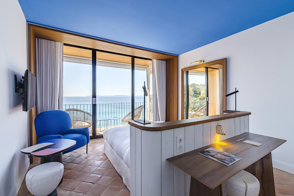 Die Zimmer mit Meerblick und Balkon