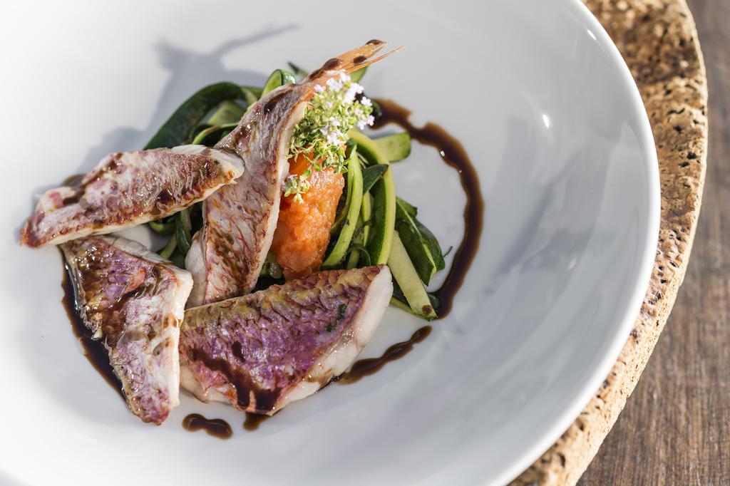 Plats Restaurant Le Loup de Mer hôtel Le Bailli de Suffren