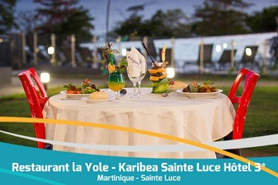 Karibea Sainte Luce Hotel restaurant la Yole