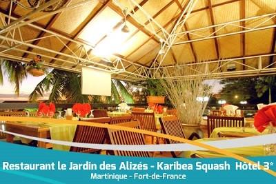 Karibea Squash Hotel restaurant Jardin des Alizes