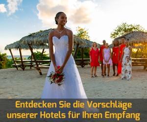 Die Hochzeitszeremonie Ihrer Träume in einem der Hotels und Residenzen von Karibea in Martinique und Guadeloupe. Zeremonie am Strand, Cocktails, Hochzeitsnacht ...