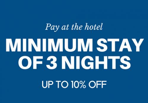 Minimum stay of 3 nights
