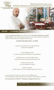 Menu Cannistraro Show Cooking al Royal Garden di Assago