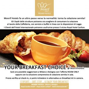 Breakfast Choice @ Monrif Hotels Milano e Bologna