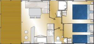 plan bungalows 4 pers confort