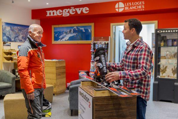 Ski shop Les Loges Blanches location de matériel ski par Richard Gay