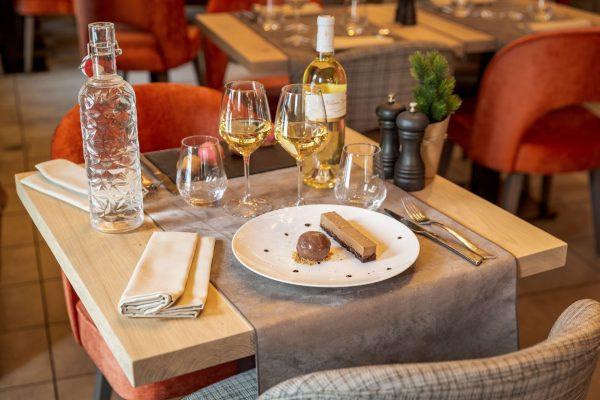Dessert au restaurant La Table des Cochers aux Loges Blanches hôtel **** à Megève gallery