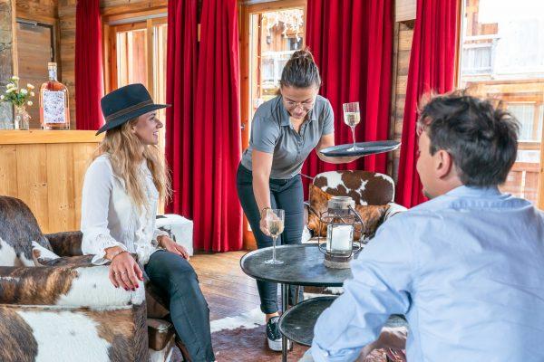 Le Bar des Cochers des Loges Blanches hôtel 4* à Megève