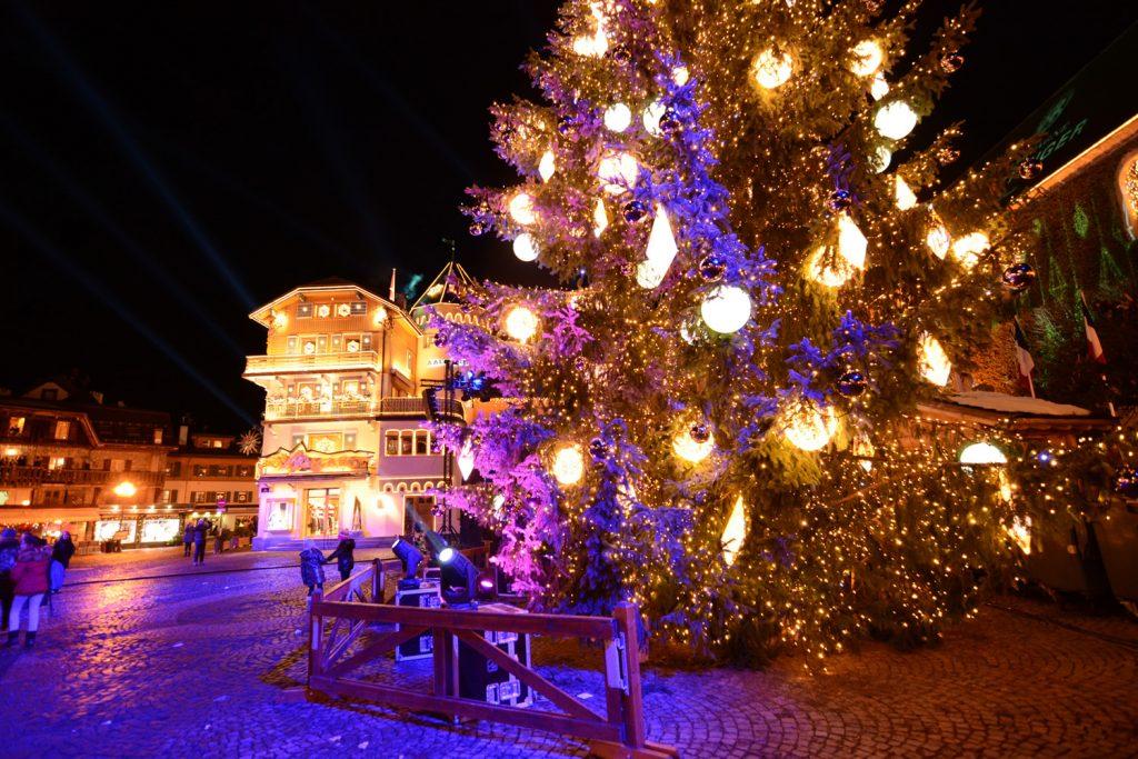Photo événements Sapin illuminations de Noël Mairie de Megève