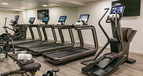A sala de fitness