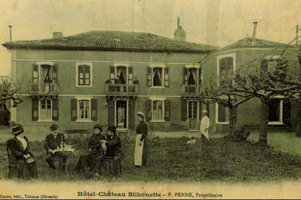 carte postale chateau silhouette