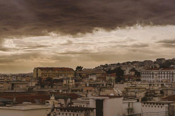 Coucher du soleil sur Nice