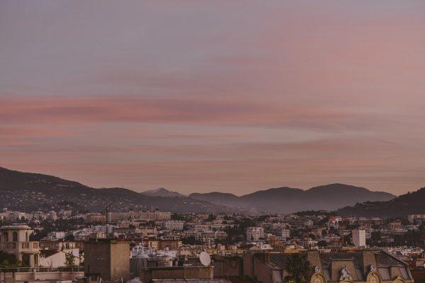 Soleil levant sur Nice