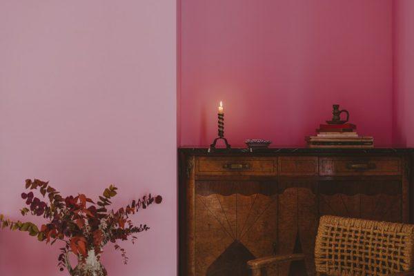 détail chambre grande rose