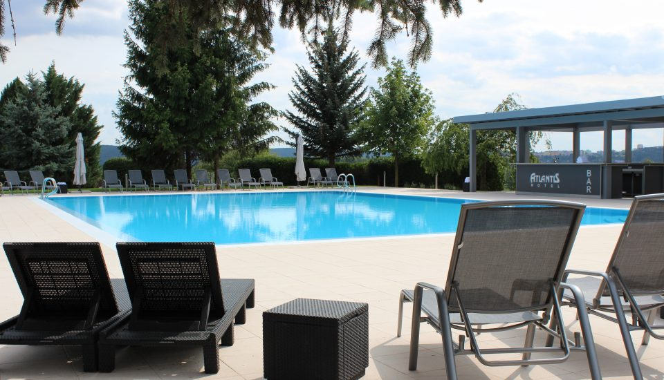 Outdoor hotel swimming pool