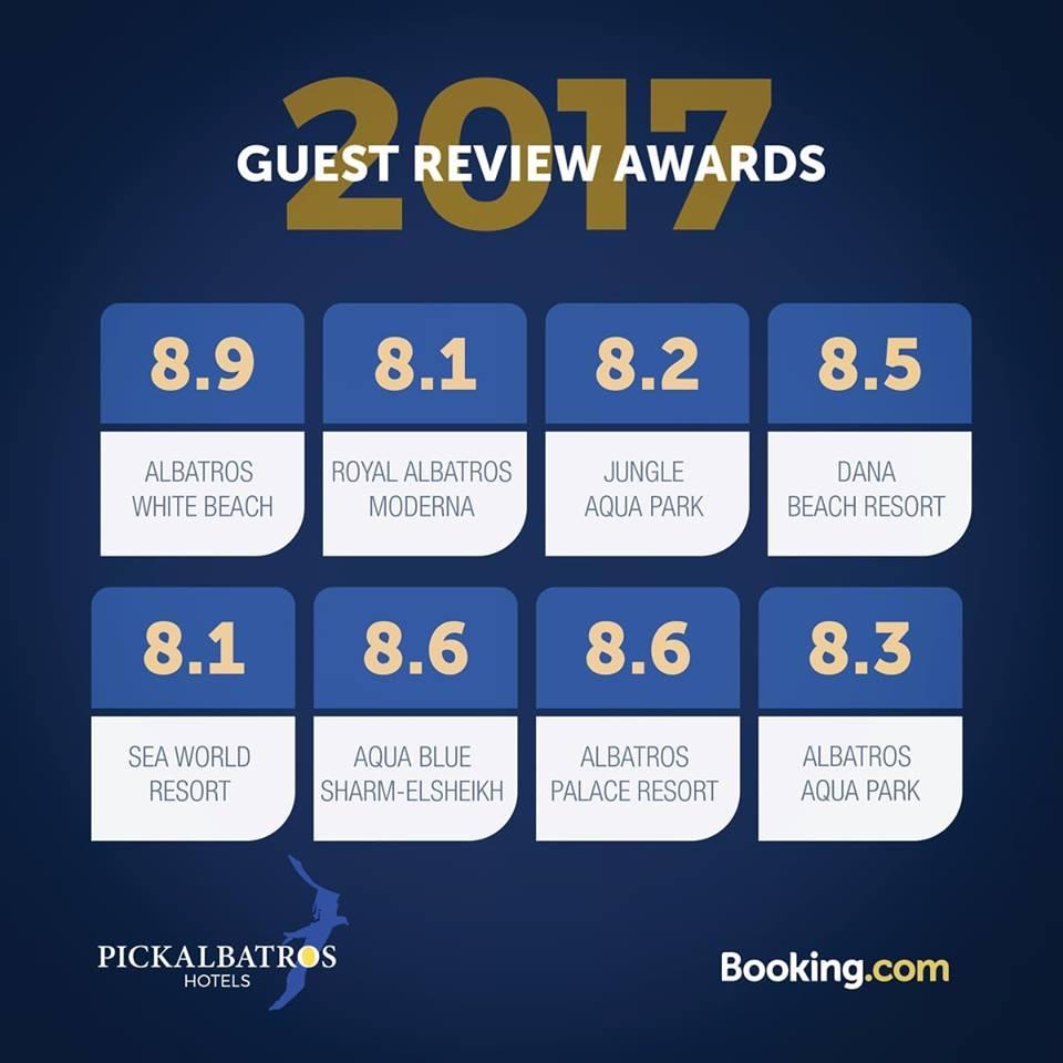 Booking com 2017 Awards - Pickalbatros Hotels & Resort in Egypt