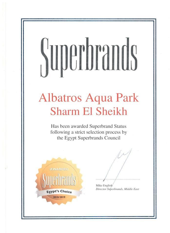 Superbrands Award - Albatros Aqua Park Sharm - Pickalbatros
