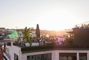 rooftop bar sunset party