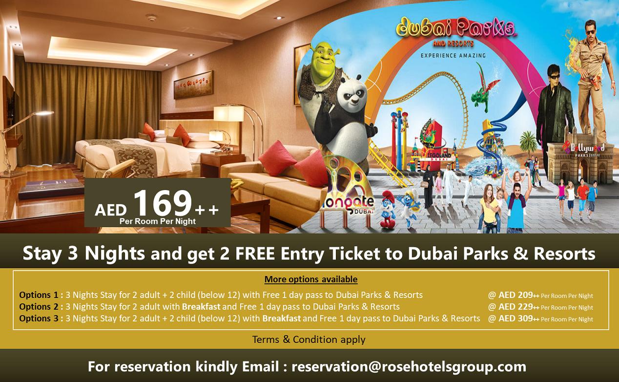 Rose Park Hotel in Al Barsha - Book a hotel Dubai
